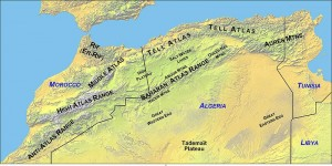 Cartina fisica Marocco