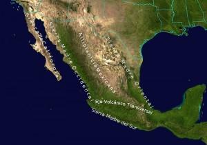 Mappa geografica del Messico