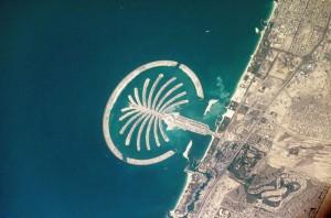 Palm Island in costruzione nel mare di Dubai