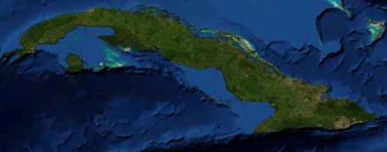 Cuba vista dal satellite