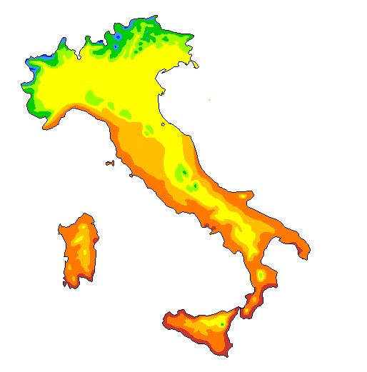 Clima italia il clima il clima - Regioni italiane non bagnate dal mare ...