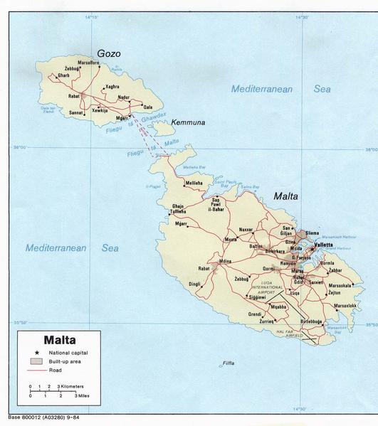 Cartina Di Malta E Gozo.Clima Malta Il Clima